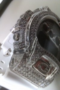 G-SHOCK CUSTOM  Diamond 8.5ct PLATINUM Line ダイヤモンドウォッチ,プラチナライン