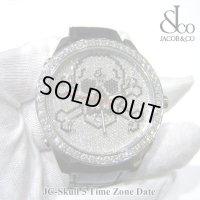 【正規品】 ジェイコブ 腕時計 スカル JC-SKULL ホワイト ファイブタイムゾーン 47mm ダイヤ