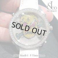【正規品】 ジェイコブ 腕時計 スカル JCM-SKULL-1 ファイブタイムゾーン 40mm ダイヤ