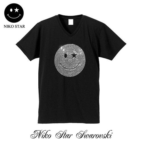 他の写真2: ニコSTAR スワロフスキー Tシャツ スマイル スワロ 半袖 ニコチャン