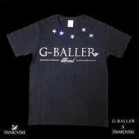G-BALLER BRAND SWAROVSKI  Original FIVE STAR Diamond T-SHIRT White Gボーラー スワロフスキー Tシャツ オリジナル ファイブスター