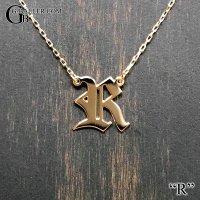 イニシャルペンダント【R】 K18/K10