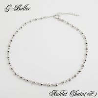 アンクレット チェーン 人気ブランド G-BALLER 18K ホワイトゴールド