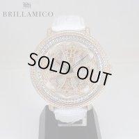 【即納】BRILLAMICO/ブリラミコ スワロ時計 ゴールドxホワイト