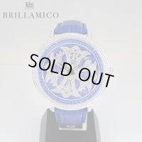 【即納】BRILLAMICO/ブリラミコ スワロ時計 シルバー x ブルー