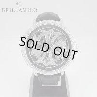 【即納】BRILLAMICO/ブリラミコ スワロ時計 シルバーxブラック