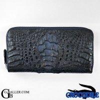 クロコダイル 財布 ブランド カイマン ネイビー