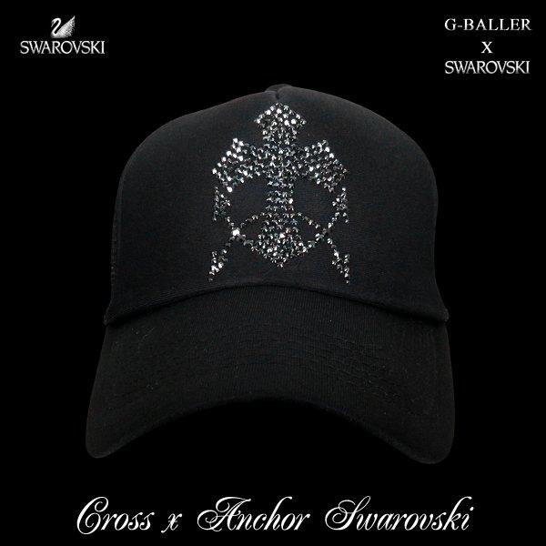 画像1: クロス アンカー キャップ G-BALLER スワロフスキーCAP