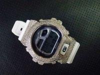 GB6900 レア カスタム 本体セット!! WHITE DIAMOND Gショックカスタム GB BLUETOOTH カスタム 世界初のブルートゥース G-SHOCKカスタム!