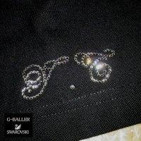 G-BALLER×SWAROVSKI スワロフスキー イニシャル   セミオーダー 高級スワロTシャツ ラグジュアリーウェア
