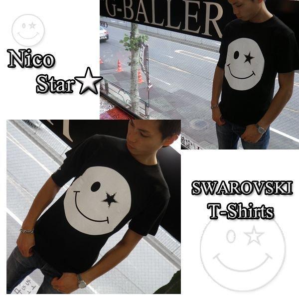 画像2: ニコSTAR スワロフスキー Tシャツ スマイル スワロ 半袖 ニコチャン