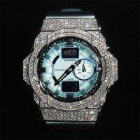 GA150 フルコンプリートモデル ブルー×ホワイト カスタム,フルセット販売!!ウブロ メンズ腕時計