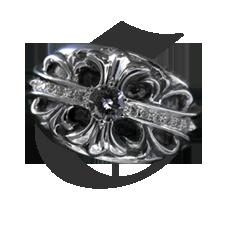 クロムハーツ フローラルクロス リング ダイヤ詳細ページへ