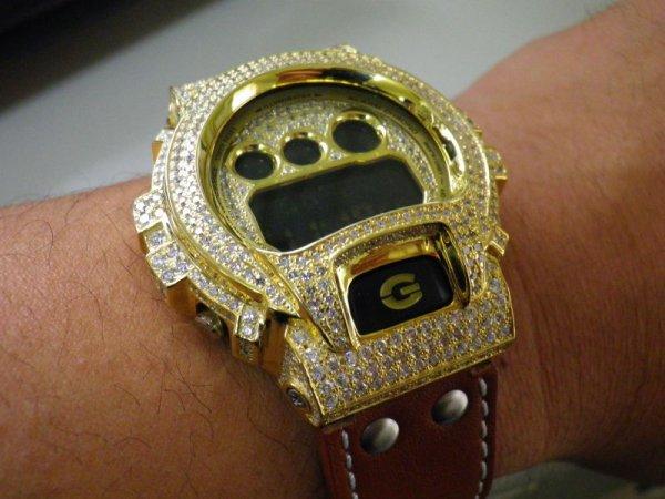 画像1: G-SHOCK レザー カスタム コンプリート モデル, (Yellow GOLD)G-SHOCK革ベルト 本革最高級品,カラー多数! G-SHOCKカスタム