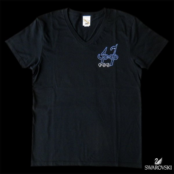 画像1: スワロTシャツ 数字 オーダー スワロフスキー オーダーメイド