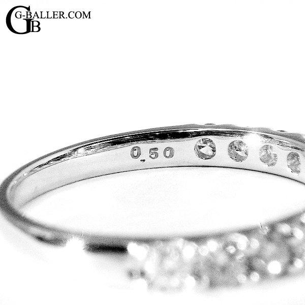 セッティングされた天然ダイヤのカラット数の刻印面です。