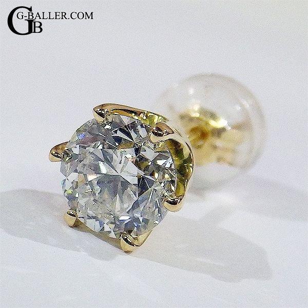 1カラットUPのダイヤをティファニー6本爪で留めたピアスです。