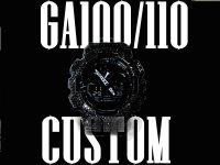 GA100/110 カスタムベゼル  ブラックフェイス カスタム
