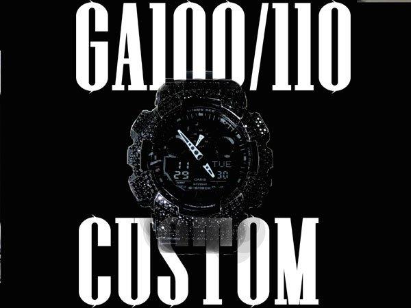 画像1: GA100/110 カスタムベゼル  ブラックフェイス カスタム