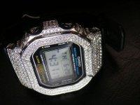 DW5600 プラチナム カスタムベゼル G-BALLER Platina Custom Bezel 高級czDiamondパヴェ/SILVER925 高級カスタムカバー