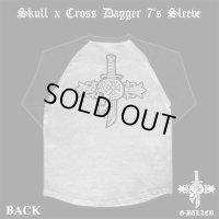 G-BALLER クロスダガーINスカル ラグラン ロングTシャツ バッククロム タイプ