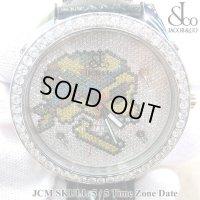 【正規品】 ジェイコブ 腕時計 スカル JCM-SKULL ファイブタイムゾーン 47mm ダイヤ