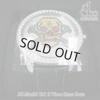 【正規品】 ジェイコブ 腕時計 スカル JC-SKULL-1-DC ファイブタイムゾーン 47mm ダイヤ