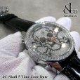 画像3: 【正規品】 ジェイコブ 腕時計 スカル JC-SKULL ファイブタイムゾーン 40mm (3)
