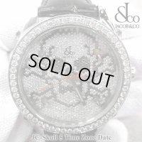 【正規品】 ジェイコブ 腕時計 スカル JC-SKULL ファイブタイムゾーン 40mm