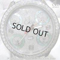 【レアモデル】 ジェイコブ 腕時計 JC30 グリーンマザー ファイブタイムゾーン 47mm ダイヤ