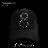 スワロフスキー キャップ No オーダー 8 ブラック CAP