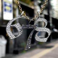 ブラックPVD REVERSIBLE NO7 ペンダント ダイヤモンド