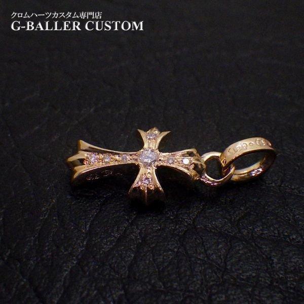 22Kベイビーファットクロス ダイヤモンド