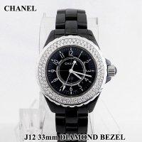 J12 33mm ベゼルダイヤ ブラック H0682 CHANEL