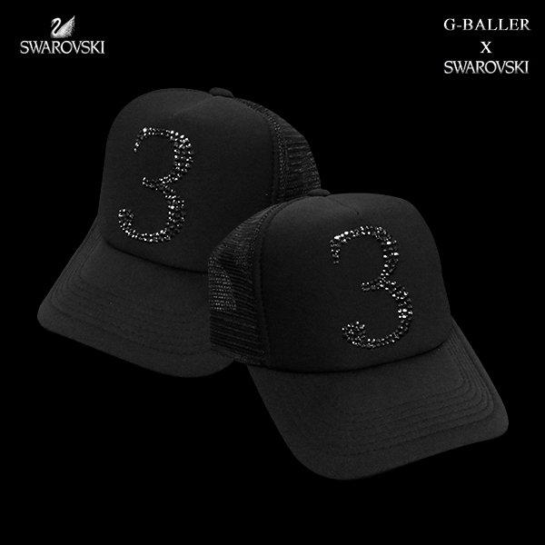 画像2: スワロフスキー キャップ 数字 3 G-BALLER ブランド オリジナル スワロCAP