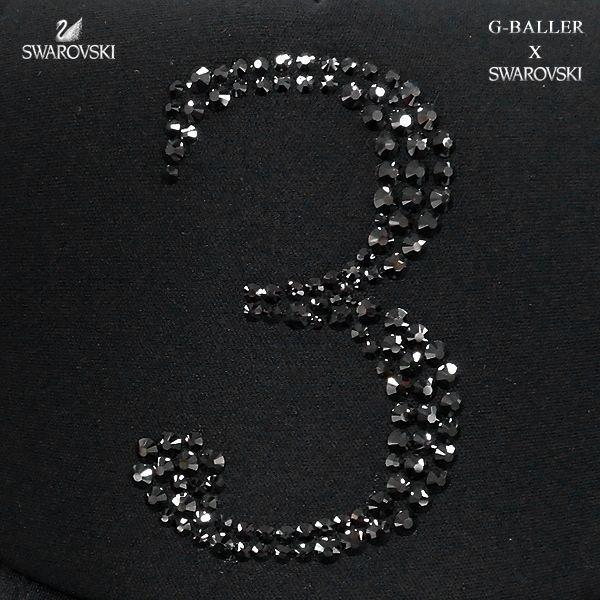 画像3: スワロフスキー キャップ 数字 3 G-BALLER ブランド オリジナル スワロCAP