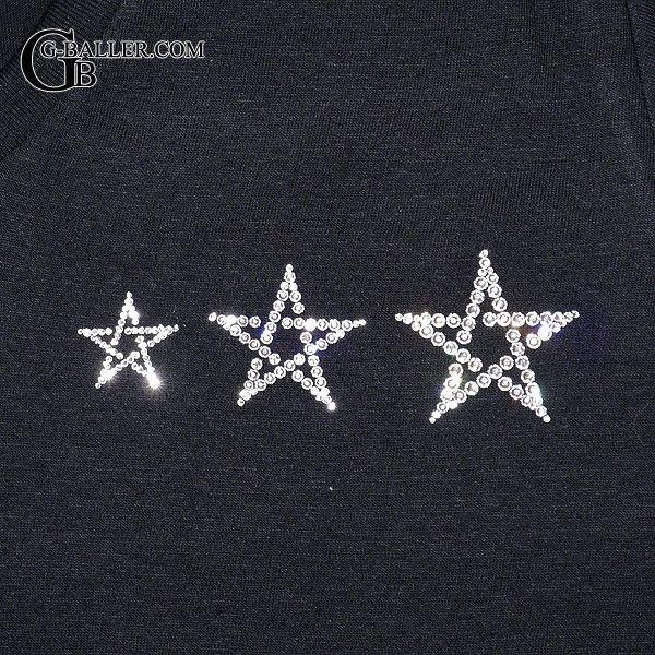 画像4: スワロフスキー Tシャツ ブランド 3スター Vネック