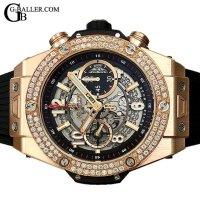 ウブロアフターダイヤ | ビッグバン ウニコ キングゴールド ベゼルダイヤ 411.OX.1180.RX HUBLOT時計