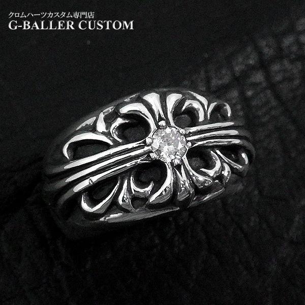 画像3: クロムハーツカスタム フローラルクロスリング ダイヤ