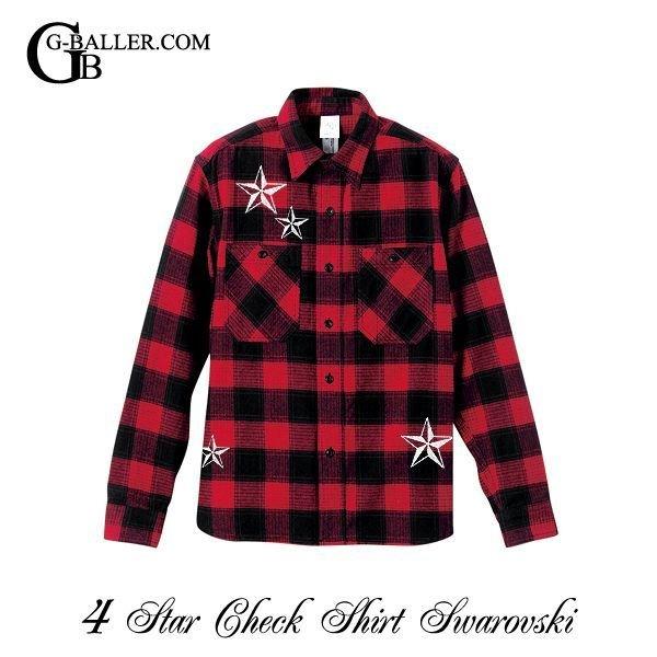 画像2: 4STAR チェックシャツ スワロ 人気のネルシャツ