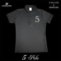 スワロフスキー ポロシャツ 5 数字 レディース オーダー ナンバー 人気のナンバリングシリーズ G-BALLER