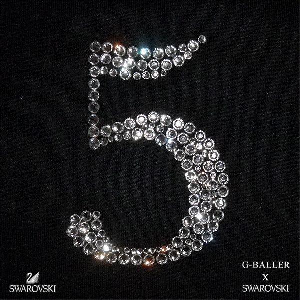画像3: スワロフスキー ポロシャツ 5 数字 レディース オーダー ナンバー 人気のナンバリングシリーズ G-BALLER