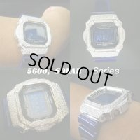 G-SHOCK G-5600 SOLAR  ダイアモンド CZ ホワイトカスタム  ソーラーモデル,