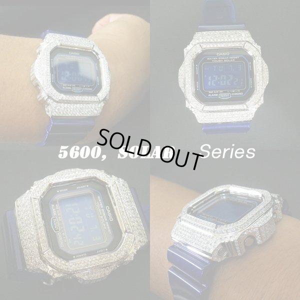 画像1: G-SHOCK G-5600 SOLAR  ダイアモンド CZ ホワイトカスタム  ソーラーモデル,