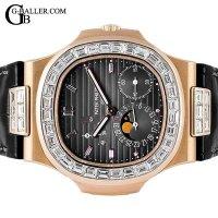 パテックフィリップアフターダイヤ ノーチラス RG バゲットダイヤ PATEK PHILIPPE時計