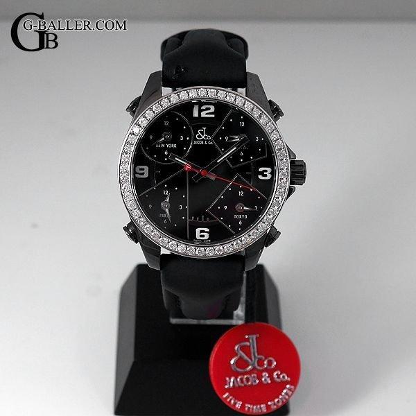 ジェイコブ ファイブタイムゾーン アフターダイヤベゼル 40mm