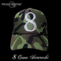 スワロフスキー キャップ ナンバー 8 カモフラ オーダー CAP