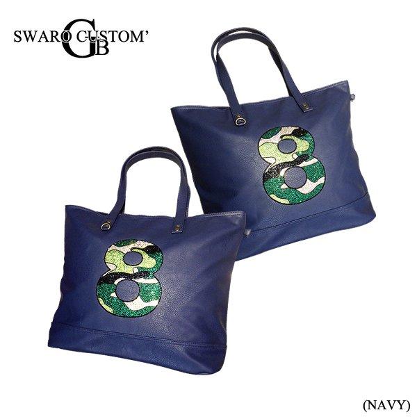 画像2: スワロ レザーデコ バッグ 数字 トートバック