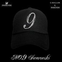 スワロフスキー キャップ 数字 カスタム オーダー 9 スワロ CAP