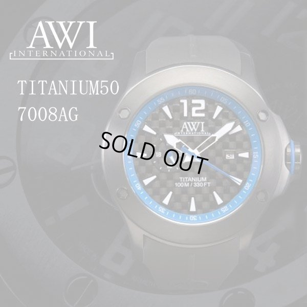 画像1: AWI インターナショナル 時計 チタニウム50 7008AG ブルー フランク・ミュラー 新ブランド